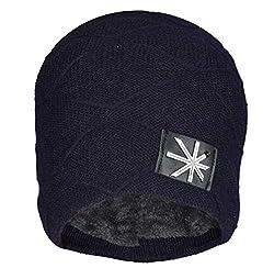 FabSeasons Unisex Acrylic Woolen Winter Beanie/Skull Cap with Faux Fur Lining