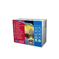 Konstsmide 3610-000マイクロLEDライトチェーン、40ダイオード、外部トランス24 V、2.4 W、ブラックケーブル、色(ライト):黄色