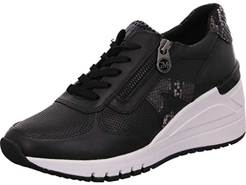MARCO TOZZI Damen by Guido Maria Kretschmer 2-2-83701-25 Leder Sneaker, Black Comb, 39 EU