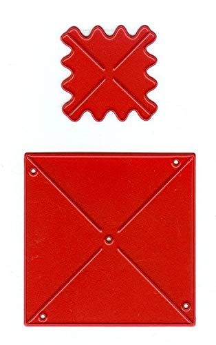 Joy!Crafts Stanzschablone 432 Mills, Windrad klein, Set mit 2 Schablonen, Schablonengröße des Quadrats ca. 5,0 cm x 5,0 cm