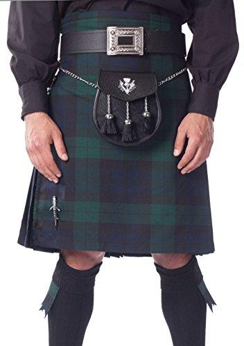 """Kilt Society Kilt Écossais de 8 Yard pour Hommes - Black Watch 28"""" à 32"""""""
