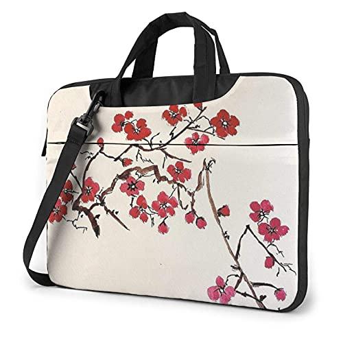 Plum Blossom Funda para portátil de 14 Pulgadas, Elegante Bolso de Neopreno para portátil