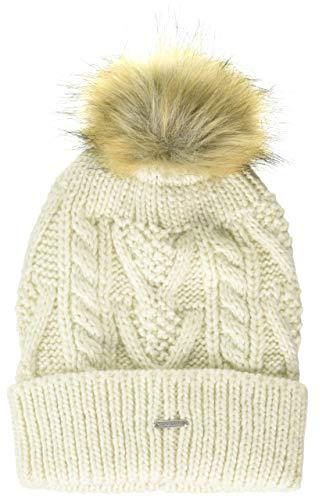 Superdry Womens LANNAH Beanie Hat, Cream, Einheitsgröße