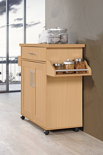 Hodedah-Import-Kitchen-Island-with-Spice-Rack-with-Towel-Rack-Chocolate-Grey