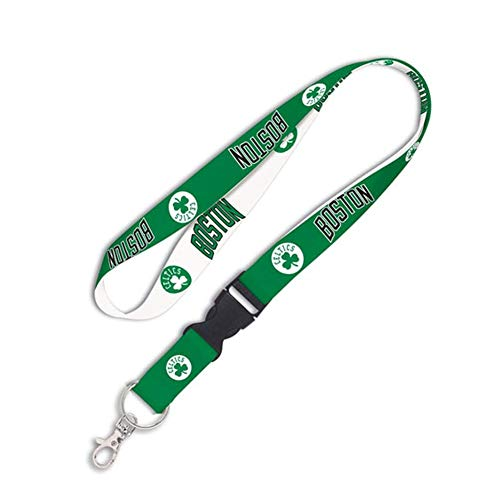 WinCraft NBA Boston Celtics Lanyard with Detachable Buckle, 3/4'