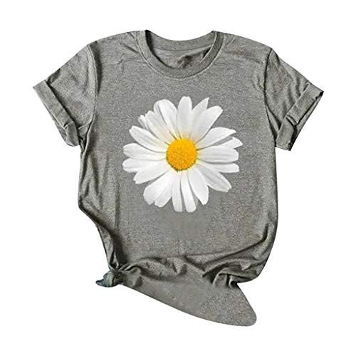 Purchase Toimothcn Short Sleeve Tee for Women, Ladies Short Sleeve Sunflower Printed T-Shirt O-Neck ...