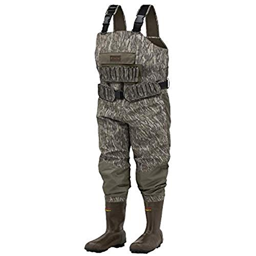 Frogg Toggs Grand Chesapeake Breathable & Insulated Bootfoot Chest Wader, Cleated Outsole, Mossy Oak Bottomlands, Size 13