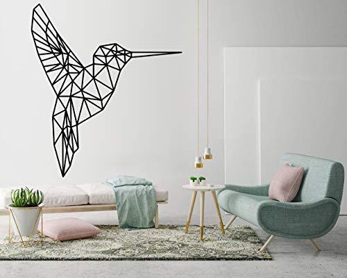 Das LxLab   Kolibri Wandtattoo   Geometrischer Wandaufkleber   Geometrische Kunst Aufkleber   Hohe Qualität   Drei verfügbare Dimensionen (S)