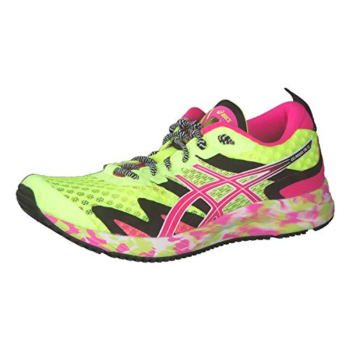 ASICS Damen Gel-Noosa Tri 12 Laufschuh, Safety Yellow Pink Glo, 43.5 EU