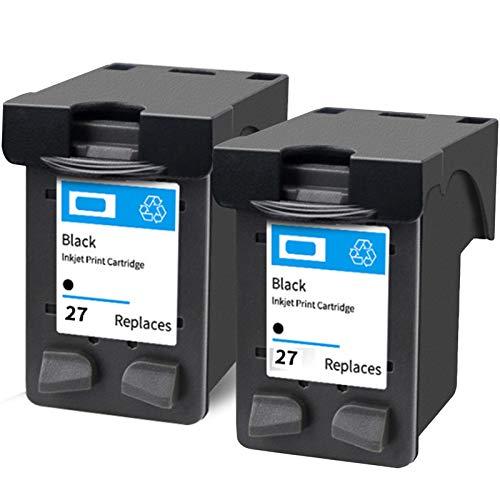 SXCD Cartucho de tinta de repuesto para impresora HP Deskjet 5608 5679 3323 FAX 1240 OfficeJet 4110 PSC 1205 1209 compatible con impresoras de inyección de tinta, color negro y negro