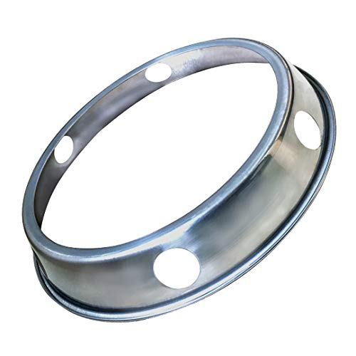 Wok Ring, Stainless Steel Wok Rack for Kitchen Use - 8.3 Inch Reversible Size