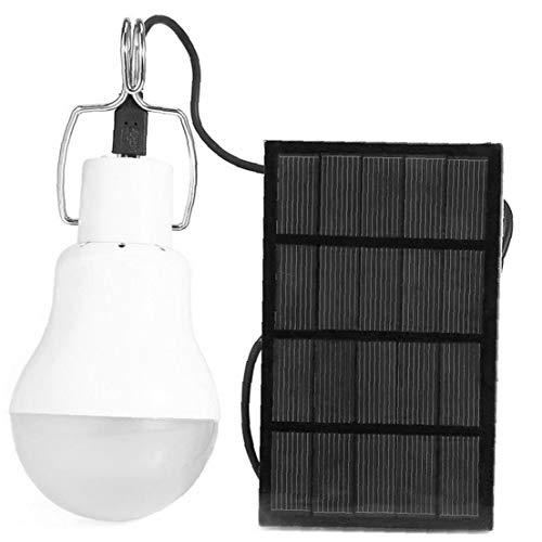 Sanfiyya Tienda de campaña Solar de luz LED Bombilla de la lámpara Recargable de Viaje Noche de Emergencia al Aire Libre Negro