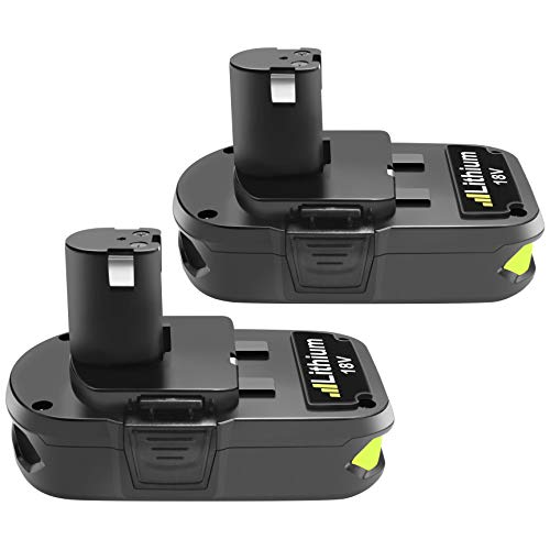 Powtree 2 Pack Li-ion 3000mAh P108 Replacement Battery Compatible with Ryobi 18-Volt ONE+ P102 P103 P105 P107 P108 P109 Cordless Tool Battery