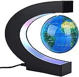 SuRose Globo, Globo de sobremesa Explore The World Globo Flotante magnético, Formas de levitación Que giran el Mapa del Mundo con Globo terráqueo para decoración de Escritorio, cumpleaños de Navida