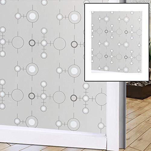 1 stks Glas Sticker Raamfoliestickers Raamdecoratie PVC Brede Ondoorzichtige Privacy Statische Glas Raamfolie Badkamer Home Decor 7,45x100 cm, China