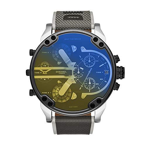 Diesel Herren Analog Quarz Uhr mit Nylon Armband DZ7429
