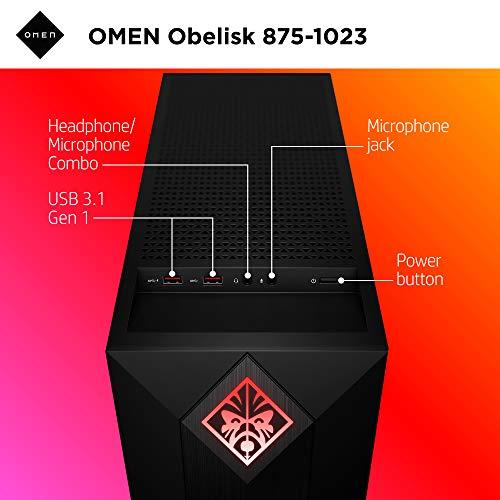 OMEN by HP Obel   isk Gaming Desktop Computer, 9th Generation Intel Core i9-9900K Processor, NVIDIA GeForce RTX 2080 SUPER 8 GB, HyperX 32 GB RAM, 1 TB SSD, VR Ready, Windows 10 Home (875-1023, Black)