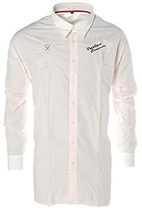 Kitaro® Langarm Hemd kariert Polo Rosa 6XL