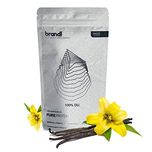 brandl® Veganes Protein-Pulver All-in-One nach dem Training | 4K-Kombi-Vegan-Protein, Kreatin, Ashwagandha, Magnesium, Probiotika & 10+ Superfoods | 600g Vanille