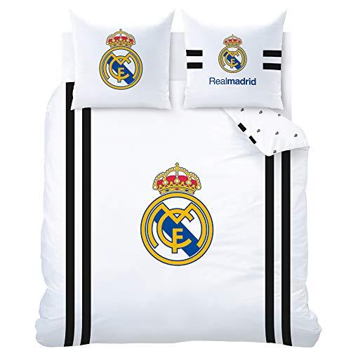 Real Madrid Parures de lit, Blanc, 240 x 220 cm