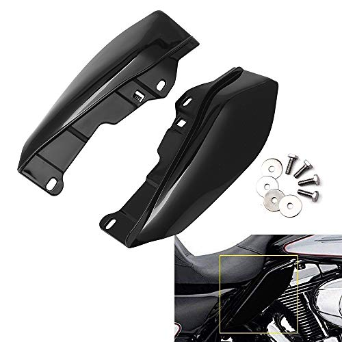H-Ruo Matte Black Mid Frame Air Deflector for Harley Touring Street Glide Electra Glide Road King 2009-2016