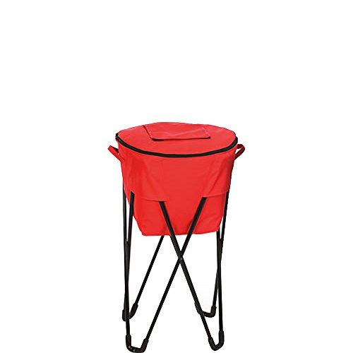 Picnic Plus 72 Can Insulated, Leakproof Tub Cooler with Stand and Travel Bag Red