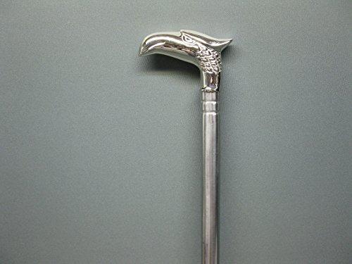 Acier inoxydable flanier étage Canne Aigle Canne Bâton de marche marié M127 style antique 92 cm