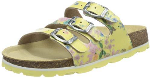 Superfit Mädchen Fussbettpantoffel Pantoffeln, Gelb (Gelb 60), 30 EU