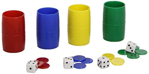 Cayro-074/1 Caja Accesorios Parchís 4 Jugadores, Multicolor, Miscelanea (074/1)
