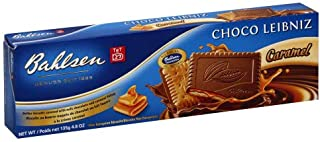Bahlsen Choco Leibniz Caramel Cookies (3 boxes) - Leibniz Butter Biscuits topped with a thick layer of European Chocolate - 4.8 oz boxes