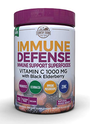 Country Farms Country Farms Immune Defense Superfoods Drink Mix Dietary Supplement Berry Flavor, 40 Servings