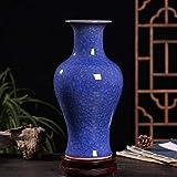 Jarrones Florero Azul Ornamentos Chinos Diferentes caractersticas de cermica floreros Grandes Desigual distribucin Colores Individuales Monocromo Glaze Florero (Color : C)