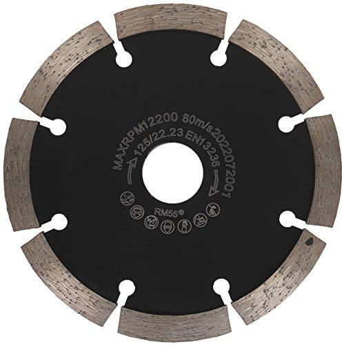 PRODIAMANT Fresa para juntas de diamante, 125/22,23 mm, grosor de 6 mm, disco de fresado adecuado para amoladora angular