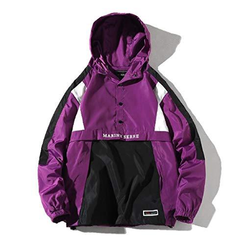 TEBAISE Regenjacke Windbreaker Kapuzenpullover Herren Patchwork Kapuzenpulli Hoodies Reissverschluss Sweatshirt Pullover 2019 Herbst Winter...