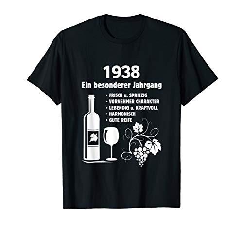Geburtstag Geschenk Wein Vintage - Besonderer Jahrgang 1938 T-Shirt