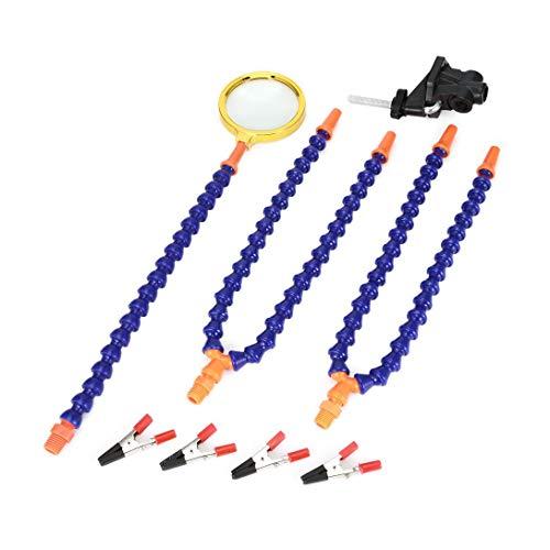 Swiftswan - Banco de trabajo flexible con lupa para reparación de soldar, 5 piezas, con lupa puede girar