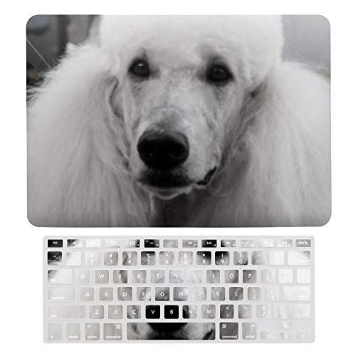 Macbook Air 13 Inch Case(A1369 & A1466, Older Version 2010 2017 Release), Plastic Hard Protective Laptop Case Shell With Keyboard Cover, Poodle Dog Cover