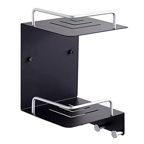 FYMDHB886 rum-aluminiumbadrum-hylla 2 lager trekantig hylla-kök-vägg-hängande hörnhylla