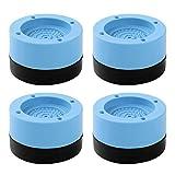 iixpin Vibrationsdämpfer, 4 Stück Universal Schwingungsdämpfer Antivibrationsmatte Gummi & Kunststoff Unterlegscheiben für Waschmaschine & Trockner Blau One Size
