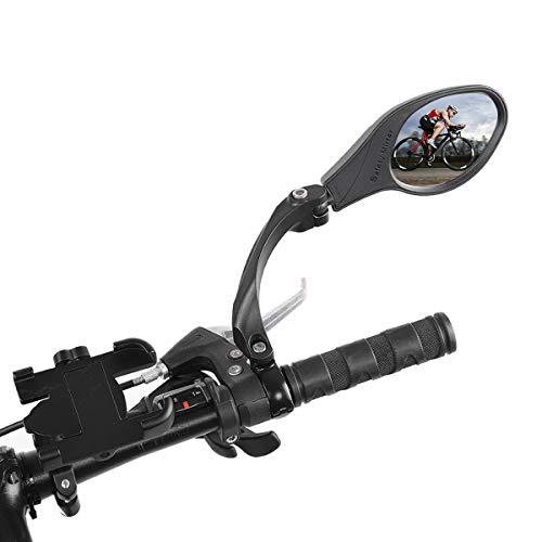 OhhGo Espejo de Bicicleta Acero Inoxidable 360 rotación Manillar Espejo retrovisor Seguro para Bicicleta Ciclismo Mountain Road Bikes Negro 8.3 * 6cm
