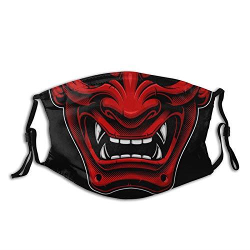 Japanese Demon Mask Face Mask Fashion Dustproof Breathable Reusable Scarf Adjustable Washable Protective Bandana