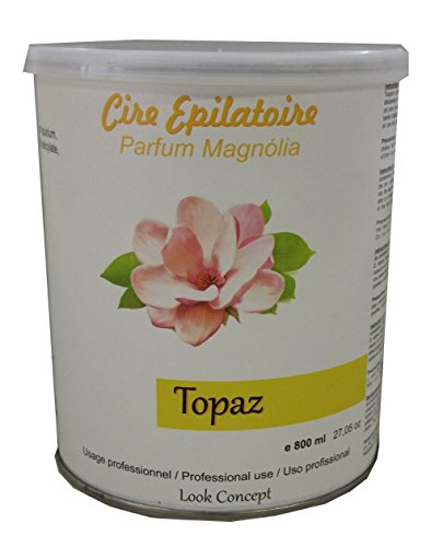 Look Concept - Pot cire à épiler jetable TOPAZ type MIEL - 800 ml