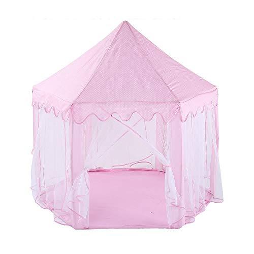 XinQing-Tienda Carpa Infantil, Castillo de la Princesa la Tienda del Juego, casa del Juego de los niños, Interior y Exterior con Bolsos, niño y niña Regalos de cumpleaños (Color : Pink)