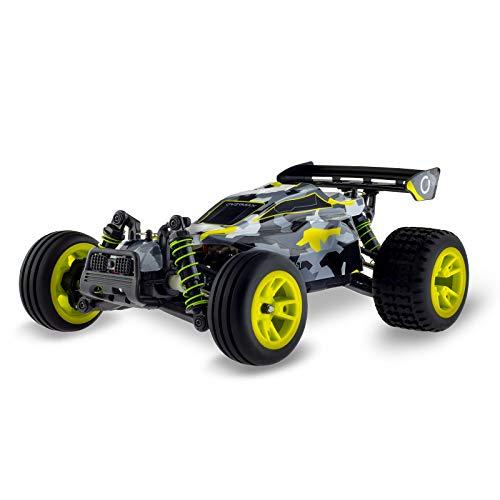 Overmax X-Blast Ferngesteuertes Auto RC Car 4x4 Geschwindigkeit von 45 kmh 100m Reichweite LED-Beleuchtung unabhängige Federung große Fahrzeugabmessungen, Schwarz-Gelb