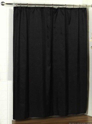 Carnation Home Fashions Lauren Dobby Duschvorhang aus Stoff, 178 x 183 cm Standard schwarz
