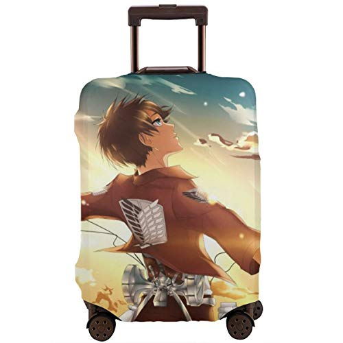 Travel Luggage Cover Anime Color Attack on Titan Suitcase Covers Protectors Zipper Washable Baggage Luggage Covers Fits XL