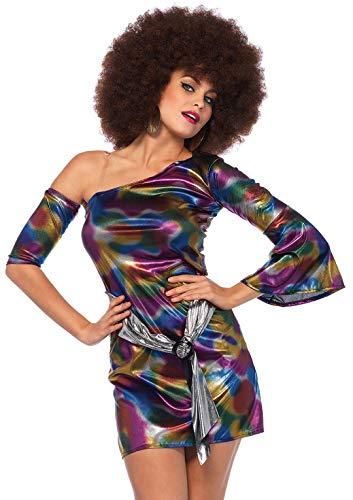 Leg Avenue- Disco Chick Dress Adult Sized Costumes, 85588-10105-Sml/Med-Multicolor, Multicolore, S/M (EUR 38-40)