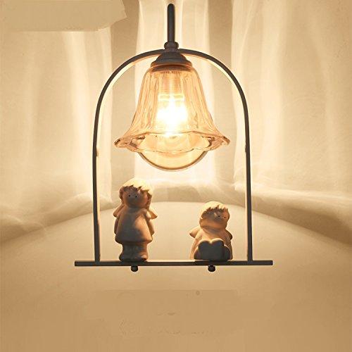 Wandlamp slaapkamer engel wandlamp bedlampje Europese stijl individualiteit eenvoudig en warm wandlamp voor kinderen 30 x 20 cm