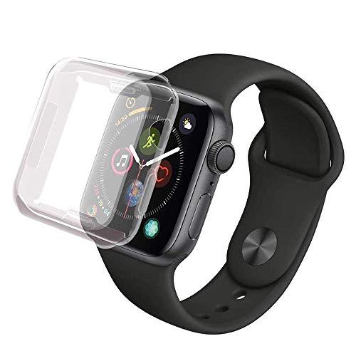 ALOhaLi Coque Apple Watch Series 4 44mm, iWatch 4 Case Protection Ecran Couverture Complète Ultra Transparent Film Protection en TPU Souple Convient pour Apple Watch Series 4 44mm
