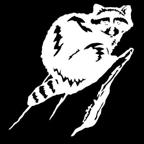 CANGZHOUXIYU Pegatinas para coche, 14,3 x 15,2 cm, diseño de mapache en un árbol, divertido vinilo para coche, color negro y plateado (nombre del color: negro) (tamaño: plata)